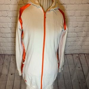 Puma vintage white & orange hoodie, L